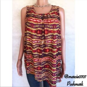 High low blouse by Peck and Peck