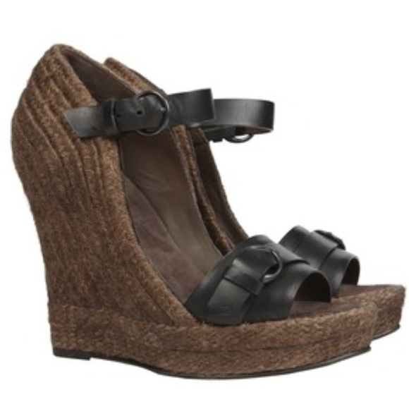 aa812371b All Saints Shoes - [All Saints] Biela espadrilles jute wedge black