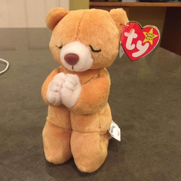 "c4da3429af7 TY Beanie Baby ""Hope"" Prayer Bear"