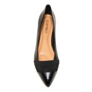 Ellen Tracy black pointed toe flats