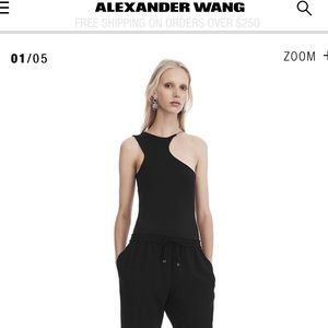 Alexander Wang asymmetrical cutout tank top black