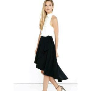 Express hi lo wrap skirt