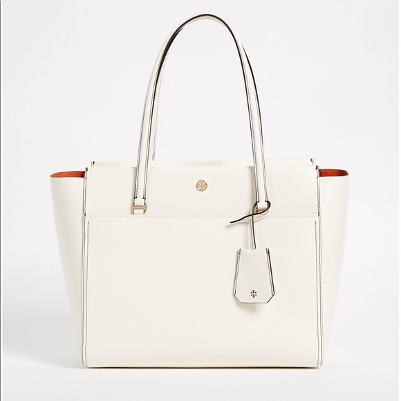 aeb11deecf6 NWT AUTHENTIC TORY BURCH IVORY PARKER SMALL TOTE