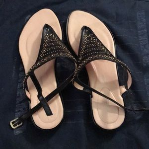 Rockport sandals with gold details, sz 10.5