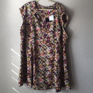 Simply Be Cutout Floral Dress