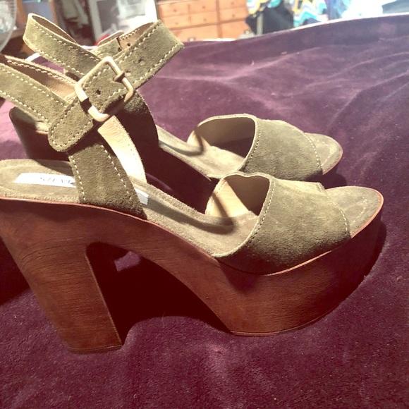 04333218db2 Steve Madden Shoes - Steve Madden Lulla wood suede heels