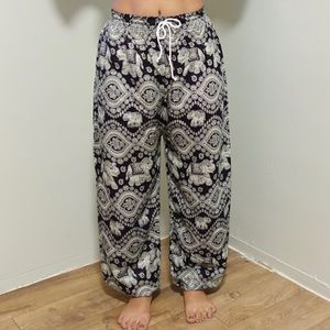 Pants - Elastic waistband Elephant Pants