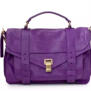 Proenza Veruca Salt Medium Ps1 Purple Satchel