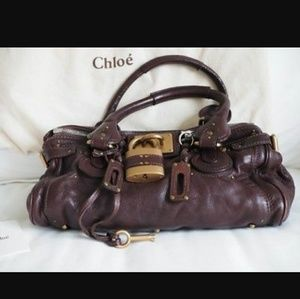 Authentic Chloe Paddington Lock Shoulder Bag
