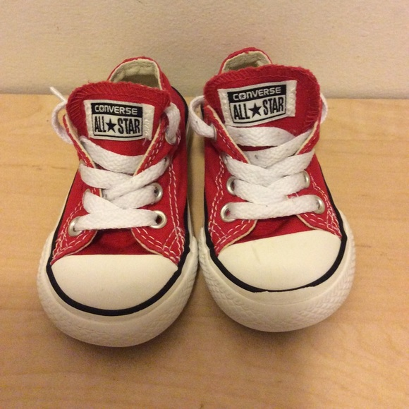ce2baa4bf70 Converse Other - Toddler size 4 red converse chuck taylors sz 4