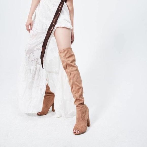 1b72ad2940a Steve Madden Nude ELLIANA Knee High Boot NWT