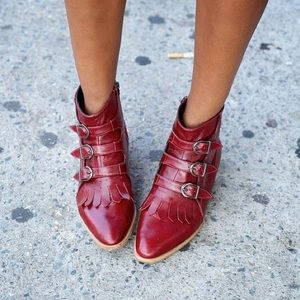 MODERN VICE Jett Classic Ankle Boots in Oxblood