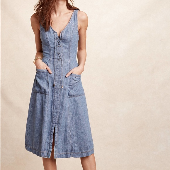 Anthropologie Dresses & Skirts - Anthropologie/Holding Horses Atoll Denim Dress