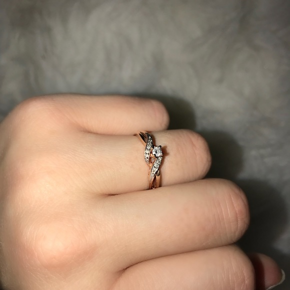 Zales Jewelry Zales Rose Gold Promise Ring Poshmark