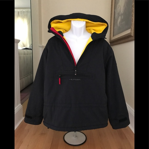 f417b5cb Tommy Hilfiger Jackets & Coats | Mens Vintage Navy Pullover Sz Med ...