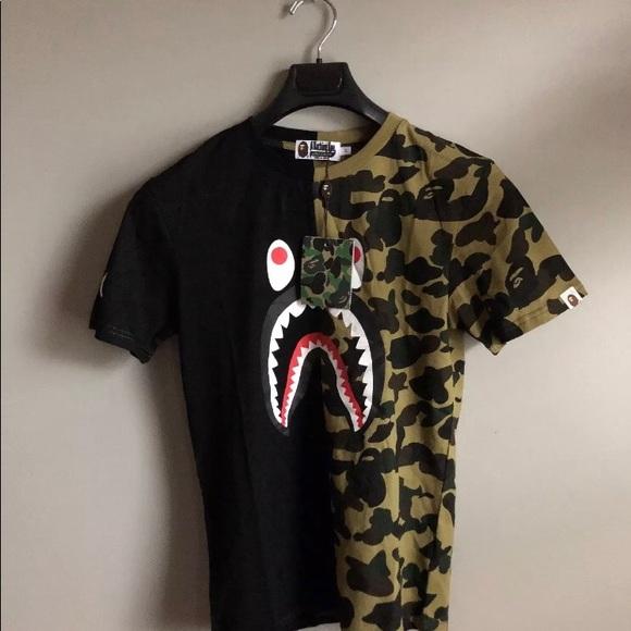 64ba12a3 Bape Shirts | 1st Camo Shark Tee | Poshmark