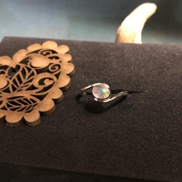 CBL Jewelry - Lab-created opal, handmade sterling silver setting