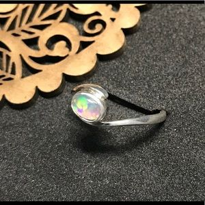 MadeByLori Jewelry - Opal in handmade sterling silver setting