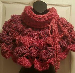 Jackets & Blazers - ****SOLD****Knit Crochet Poncho capelet shawl