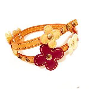 Authentic Vuitton Vernis Flowers Wrap Bracelet