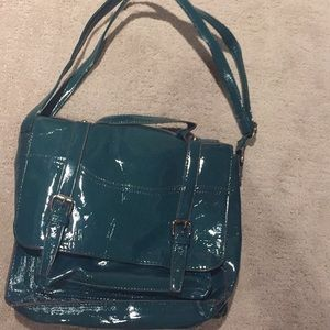 Handbags - GLOSSY Green/Blue Satchel