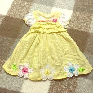 Yellow flower girly girl dress 24 months