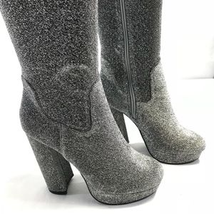 2da2cde5307 Steve Madden Shoes - Madden Girl Over The Knee Groupie Platform Boots 8