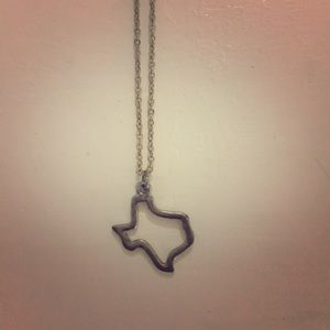 Jewelry - Silver State of Texas Outline Necklace