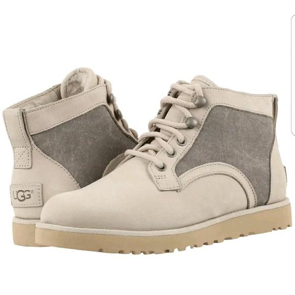 3813aa467 UGG Shoes   Bethany Canvas Sheepskin Ankle Chukka Boots 6   Poshmark