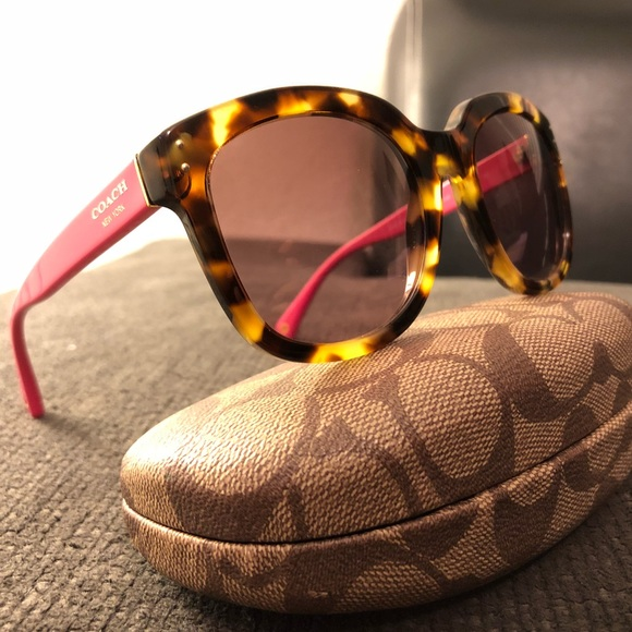 c1ad7d9007 Coach Accessories - Coach Tortoise Shell   Pink Sunglasses