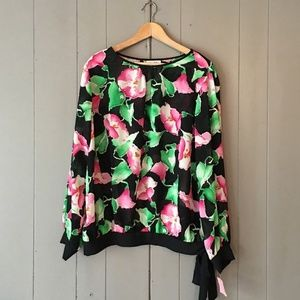 2/$45 Lad Winn Vintage Floral Blouse New with tags