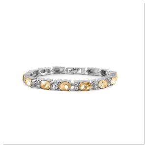 Champagne Crystal Tennis Bracelet