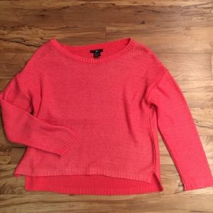 Neon orange pink sweater