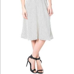 Dresses & Skirts - Down East Basics Collection White Polka Dot Skirt