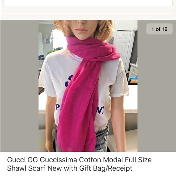 bfd9edc6dd7 Gucci Fuchsia Shawl   Scarf   Wrap New with Tag