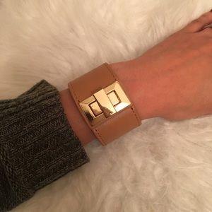 Jewelmint tan and gold cuff