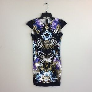 Bardot Floral Printed Bodycon Dress