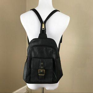 Vintage Leather Snakeskin Backpack Shoulder Bag