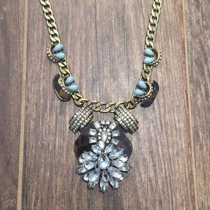 Jewelry - Necklace RhinestoneTortoise Aqua Accents