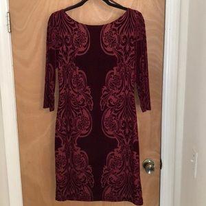Burnout Velvet Mini Dress