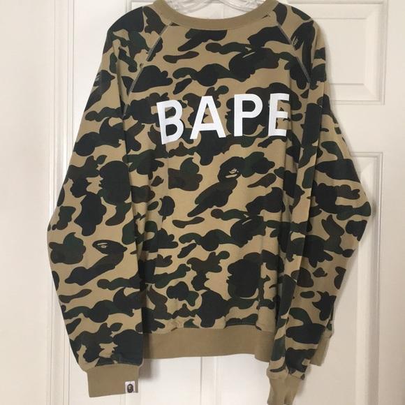 87b3ea049 Bape Sweaters | Bathing Ape Crew Neck Mens Reversible Sweatshirt ...
