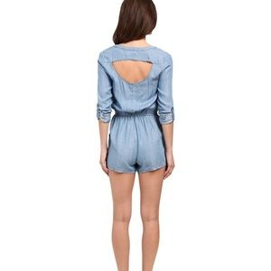 Rvca denim romper