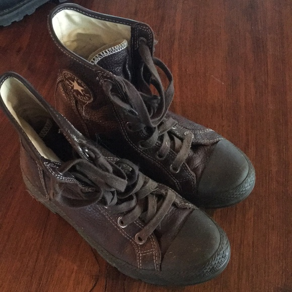 9d7c6dc47d6a Converse Shoes - Converse brown leather high top