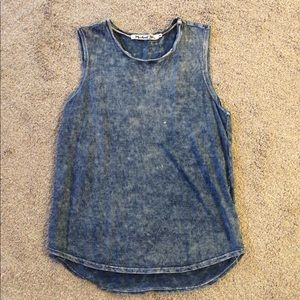 Michael Stars Jean Washed Blue Tank Top