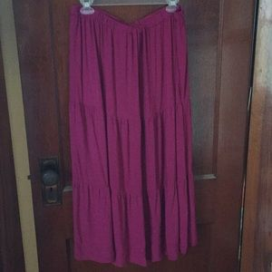 Croft and barrow fuchsia skirt