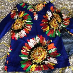 Vibrant sunflower blouse