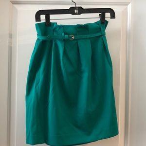 THE LIMITED—Green dress skirt.