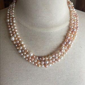 "Jewelry - Multicolor Pearl Necklace 63"""