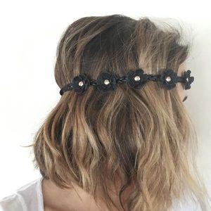 Accessories - Black Flower Crown