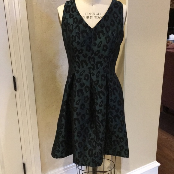 92020b6a23 LOFT Dresses   Skirts - Loft skater shaped green and black animal print